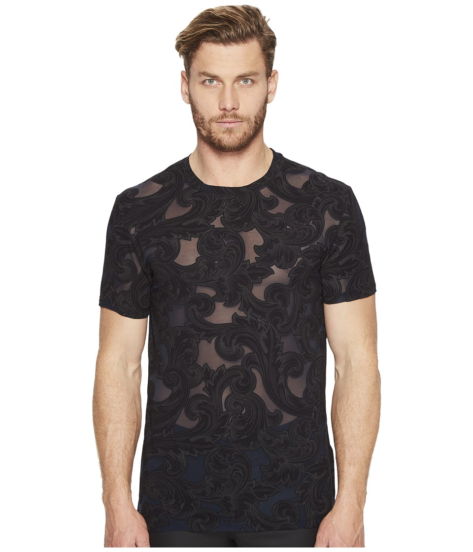 Versace Collection - Printed T-Shirt (Nero/Stampa) Men's T Shirt