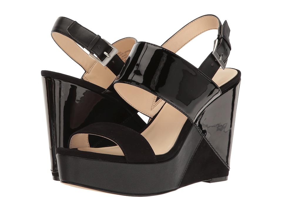 Nine West - Dreamz 3 (Black Multi Patent) Women's Wedge Shoes
