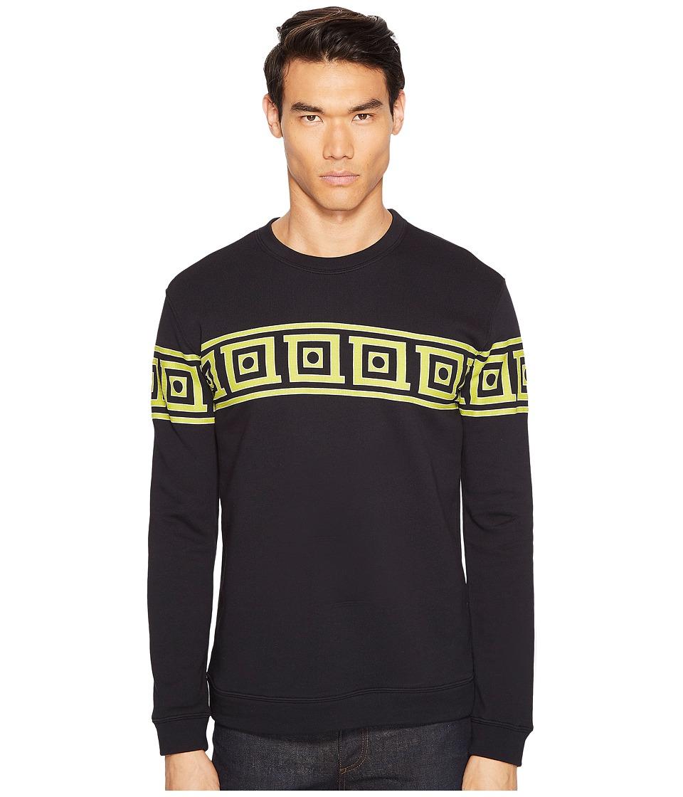 Versace Collection - Printed Sweatshirt (Nero/Stampa) Men's Sweatshirt