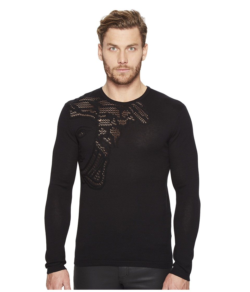Versace Collection - Crew Neck Sweater (Nero) Men's Sweater