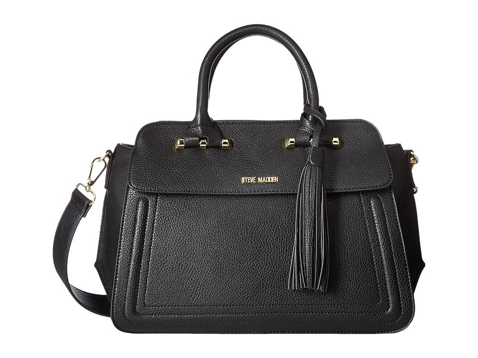 Steve Madden - Belise (Black) Satchel Handbags