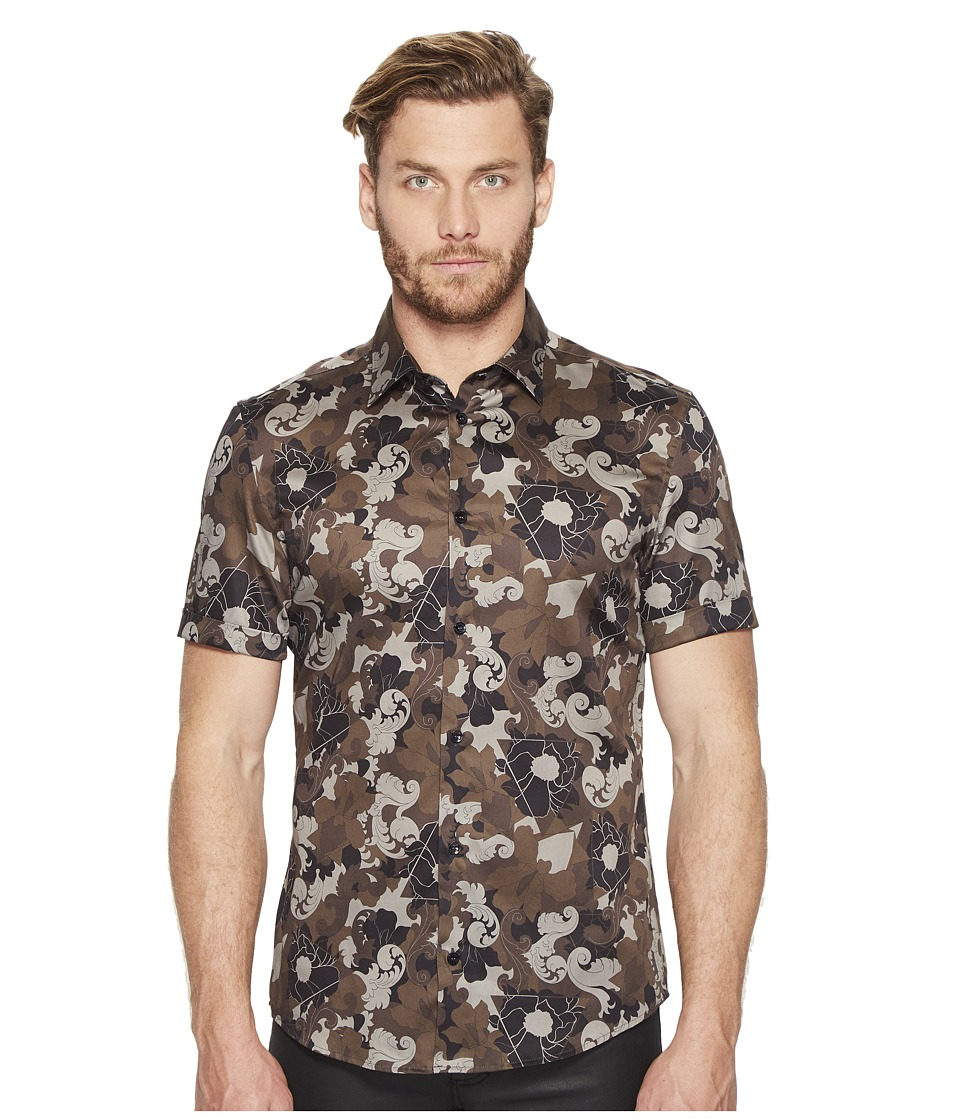 Versace Collection - Short Sleeve Button Down (Militaire) Men's Short Sleeve Button Up