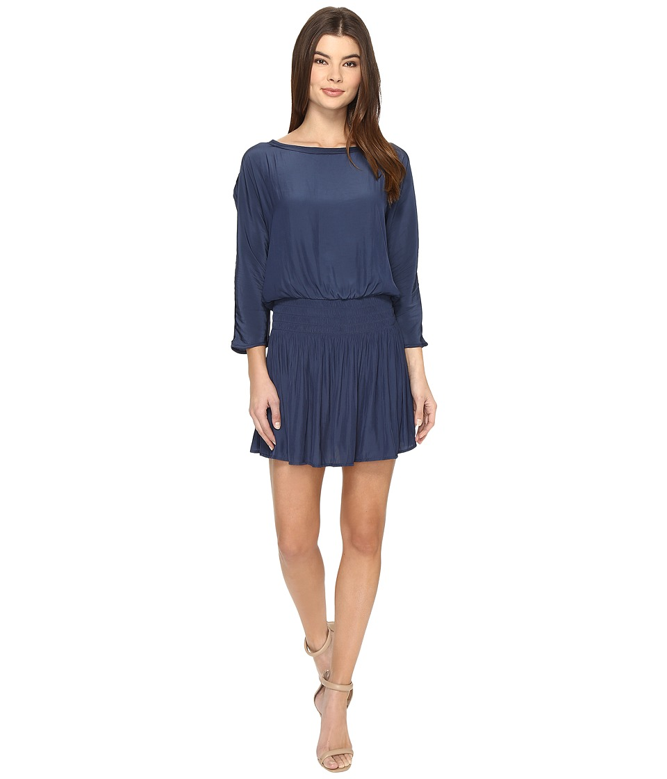 Splendid - Smocked Dress (Navy) Women's Dress
