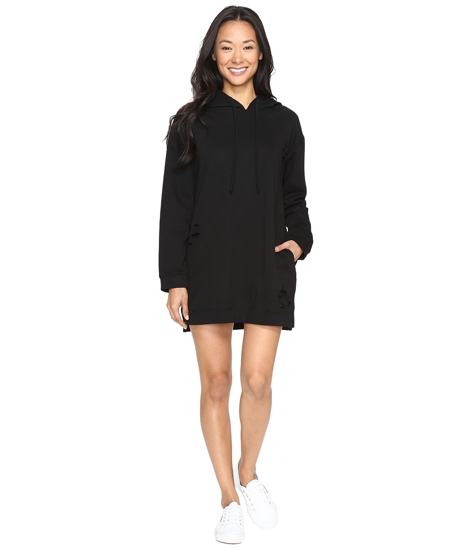 Brigitte Bailey - Inland Distressed Hoodie Dress (Black) Women's Dress