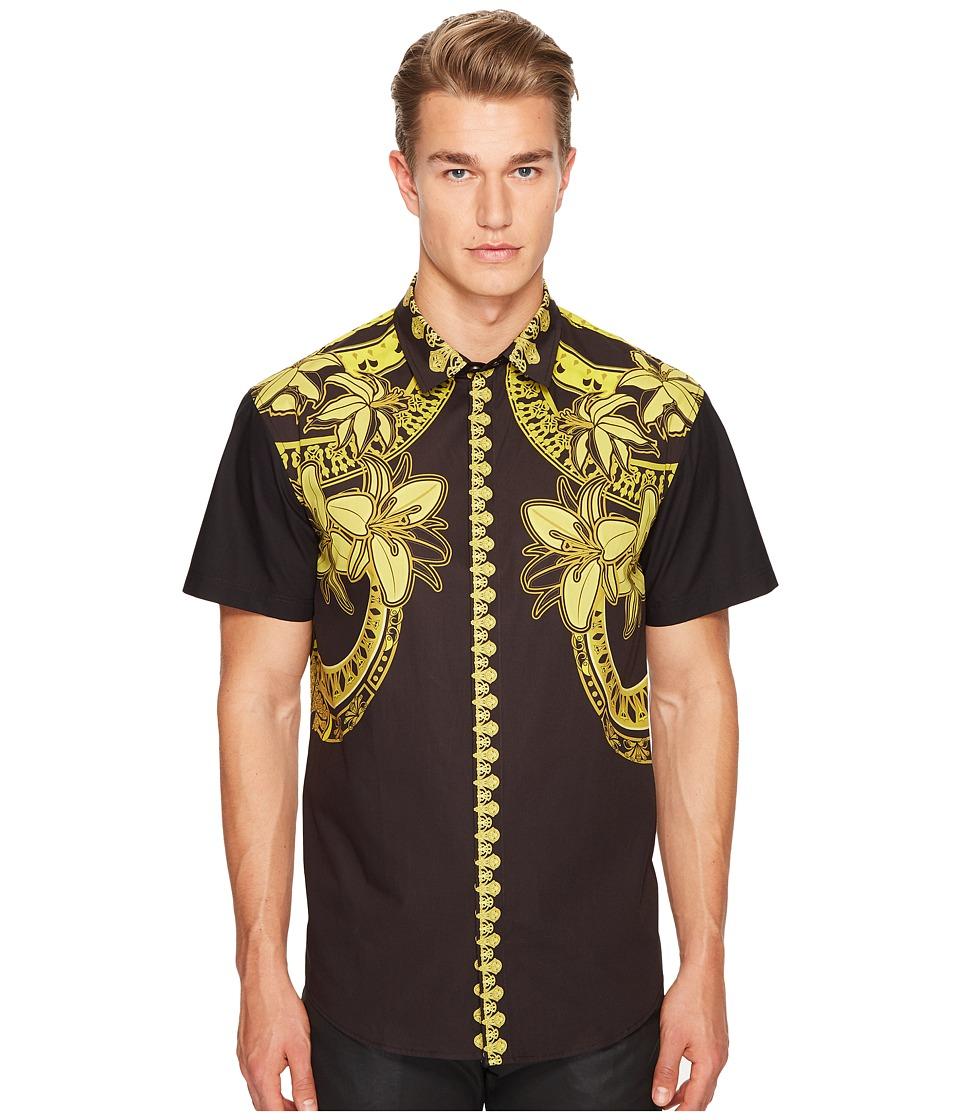 Versace Jeans - Shirt EB1GPB6RC (Nero) Men's Clothing