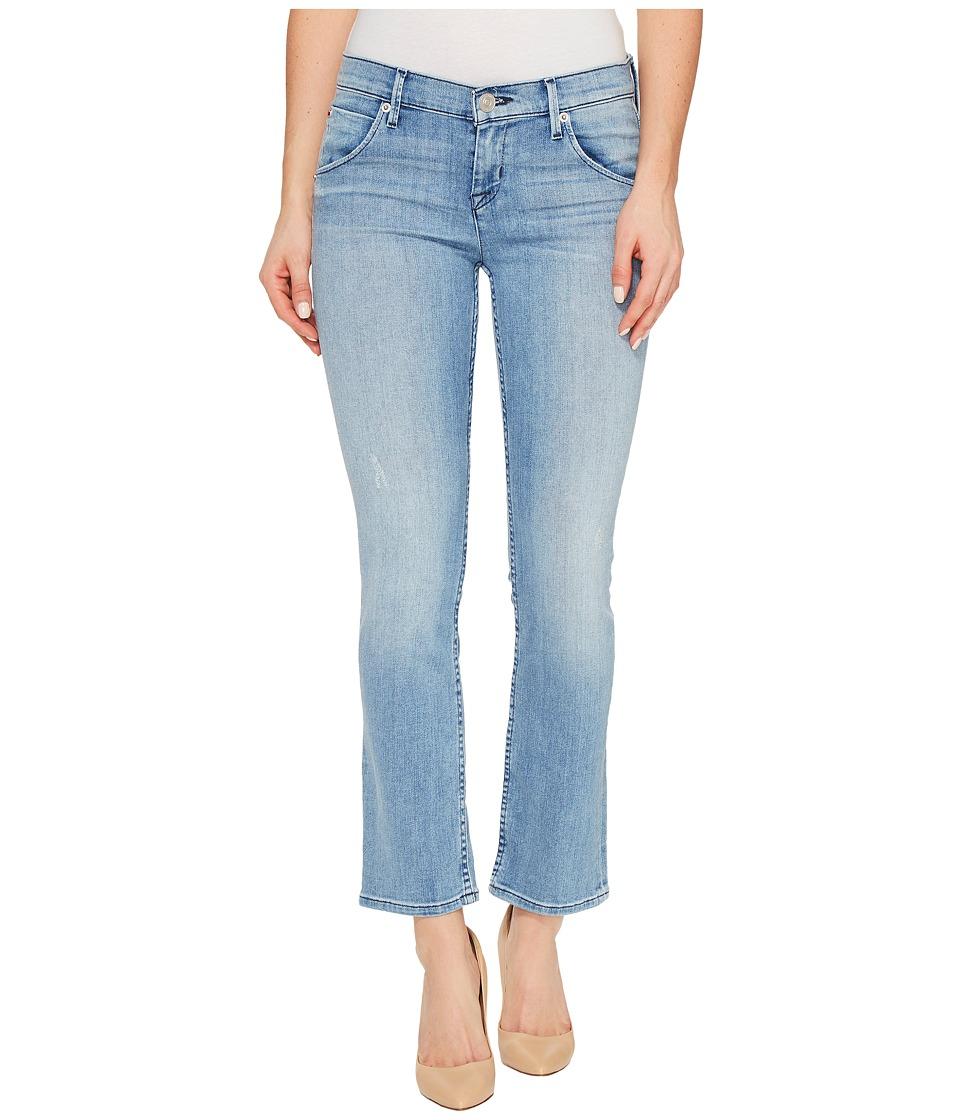 Hudson - Bailee Mid-Rise Crop Baby Boot Flap Pocket Jeans in Tidal (Tidal) Women's Jeans