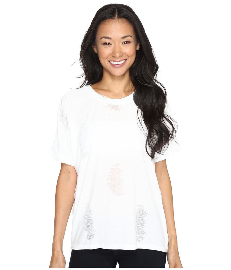 Brigitte Bailey - Caravel Ripped Tee (White) Women's T Shirt