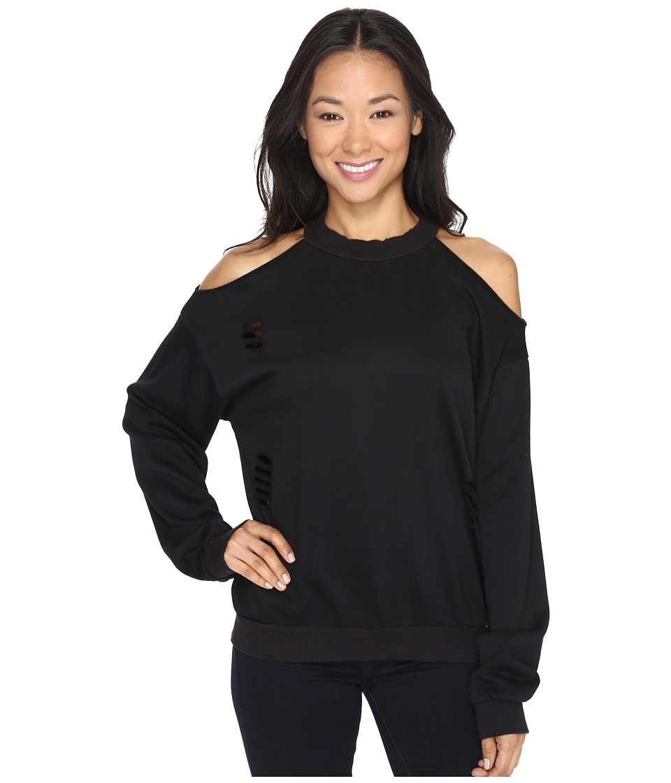 Brigitte Bailey - Merchant Cold Shoulder (Black) Women's Clothing