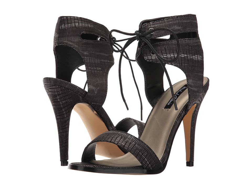 Michael Antonio - Lines - Lizard (Black Embossed Lizard) High Heels