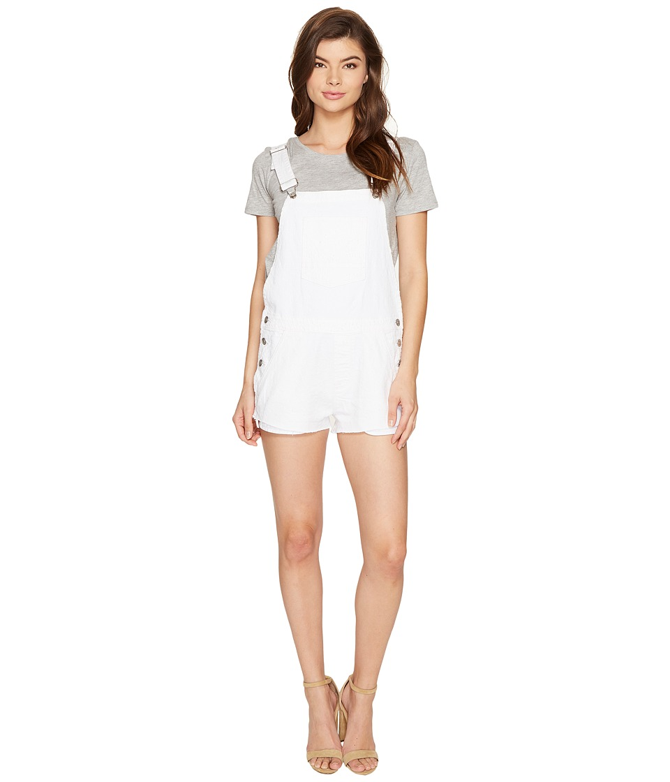 Hudson - Florence Shortall in Destroyed White (Destroyed White) Women's Overalls One Piece