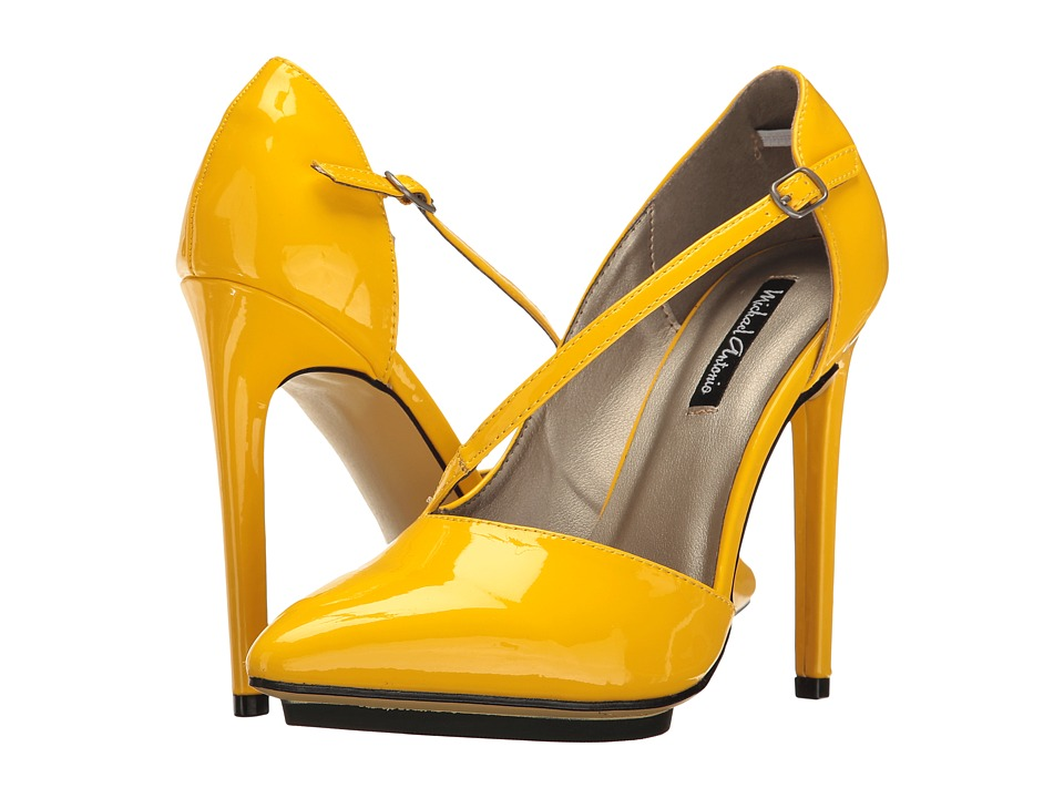 Michael Antonio - Lox - Patent (Yellow) Women's Shoes
