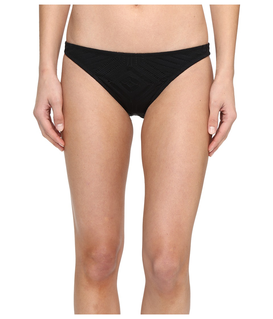 Polo Ralph Lauren - Sahara Engineered Crochet Taylor Hipster (Black) Women's Swimwear