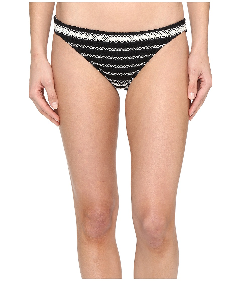 Polo Ralph Lauren - Desert Crochet Stripe Taylor Hipster (Black/Cream) Women's Swimwear