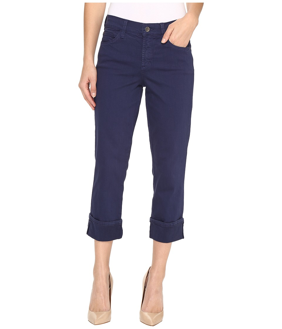 NYDJ Dayla Wide Cuff Capri Jeans in Republique Navy (Republique Navy) Women