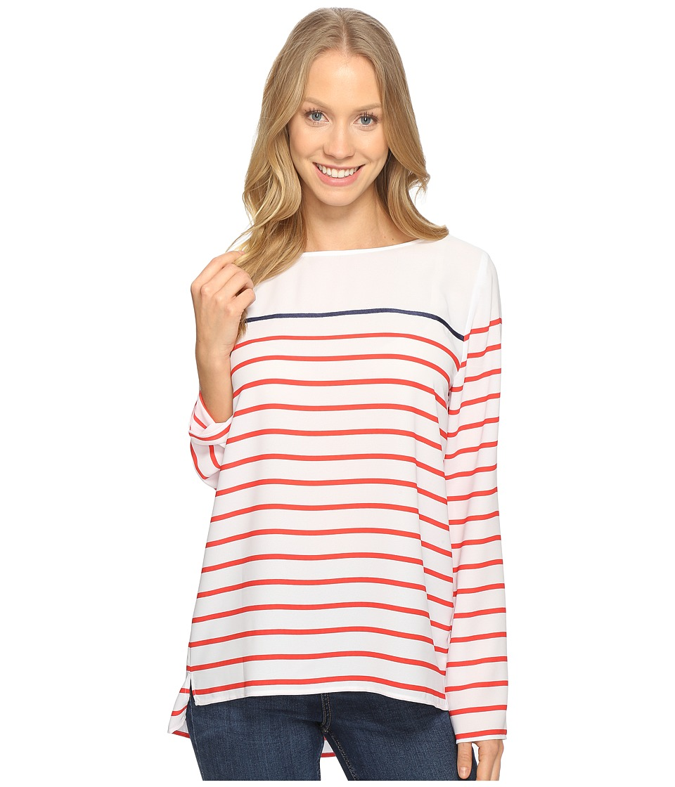 NYDJ - Ibiza Striped Top (Red Ribbon) Women's Clothing