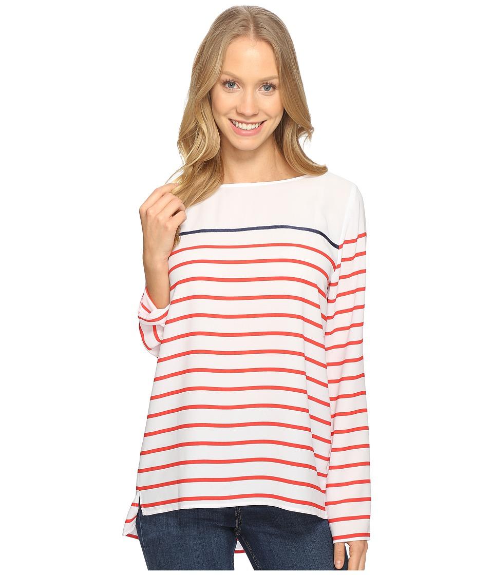 NYDJ - Ibiza Striped Top (Red Ribbon) Women's Clothing
