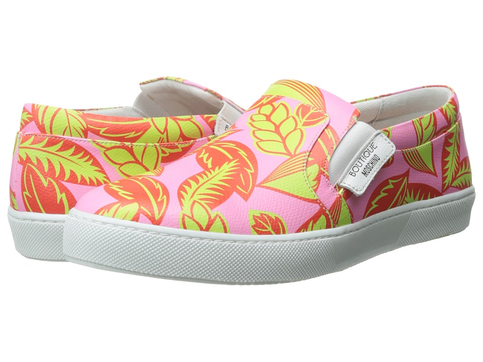 Boutique Moschino - Tropic Slip-On Sneakers (Pink/Red) Women's Shoes