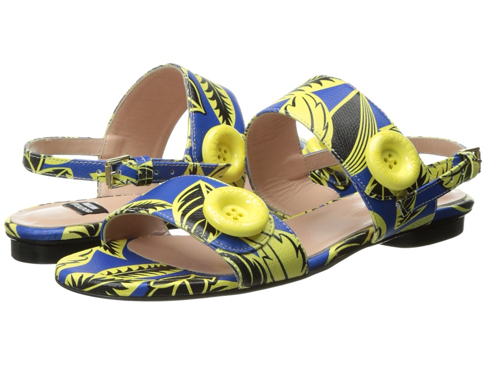 Boutique Moschino - Tropic Button Sandal (Blue/Green) Women's Shoes