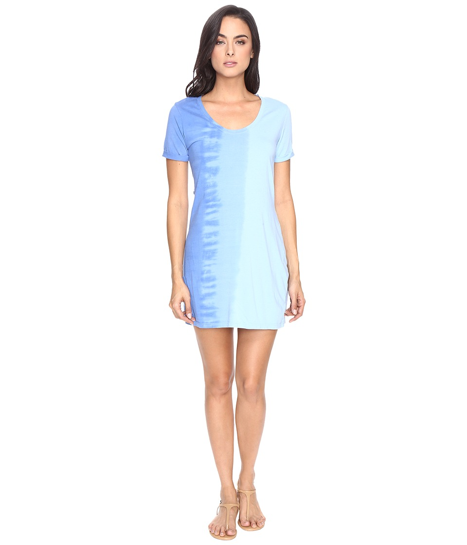 Michael Stars - Riverwash Short Sleeve Dress with Back Twist (Water) Women's Dress