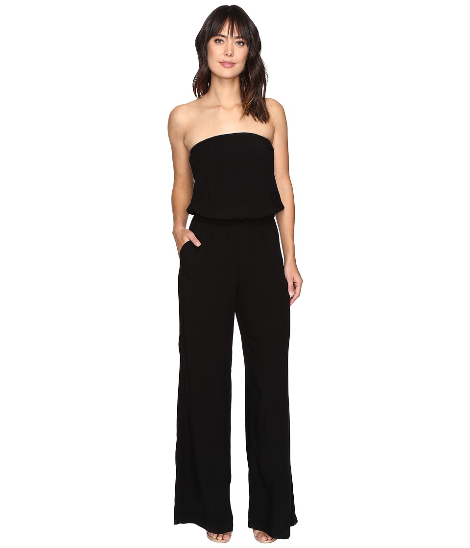 Michael Stars - Modern Rayon Strapless Wide Leg Jumpsuit (Black) Women's Jumpsuit & Rompers One Piece