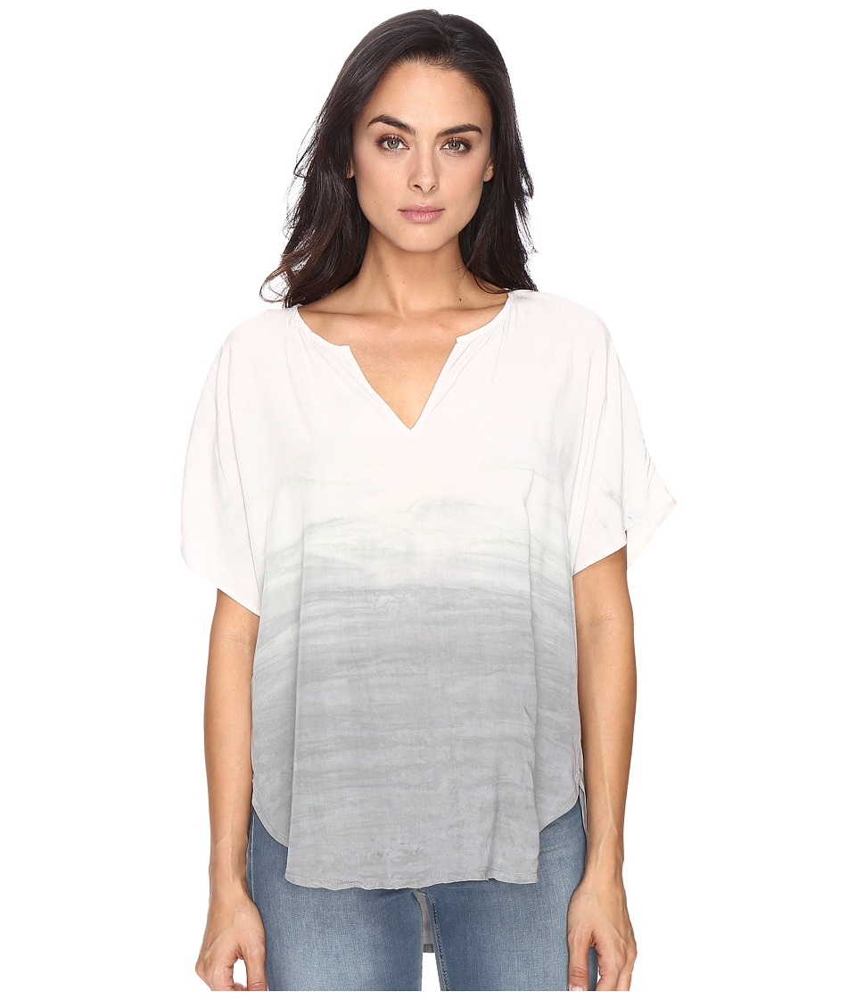 Michael Stars Haze Wash Modern Rayon Peasant Top (Silver Fox) Women