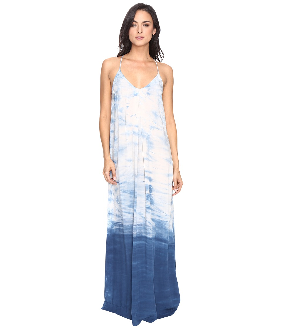 Michael Stars - Haze Wash Modern Rayon Maxi Slip Dress (Cosmic Blue) Women's Dress