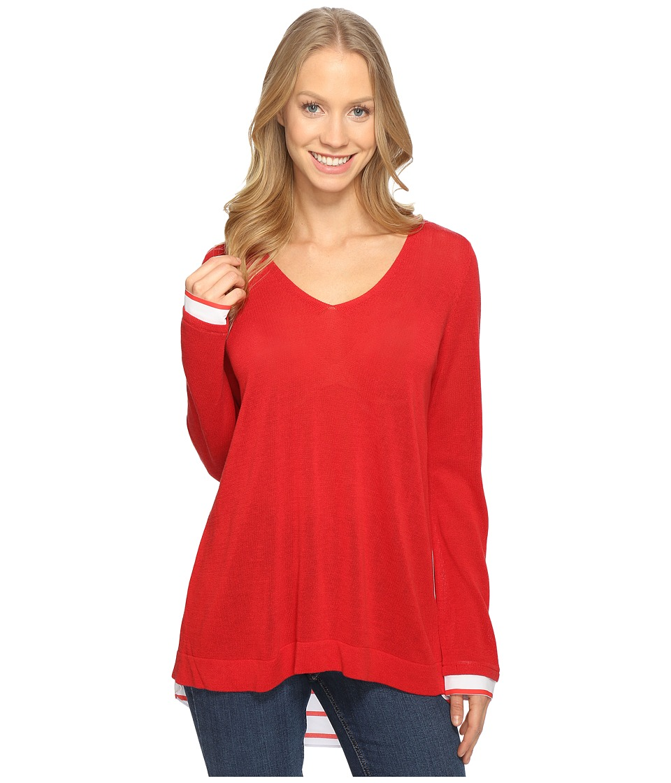 NYDJ - Twofer Sweater (Red Ribbon) Women's Sweater