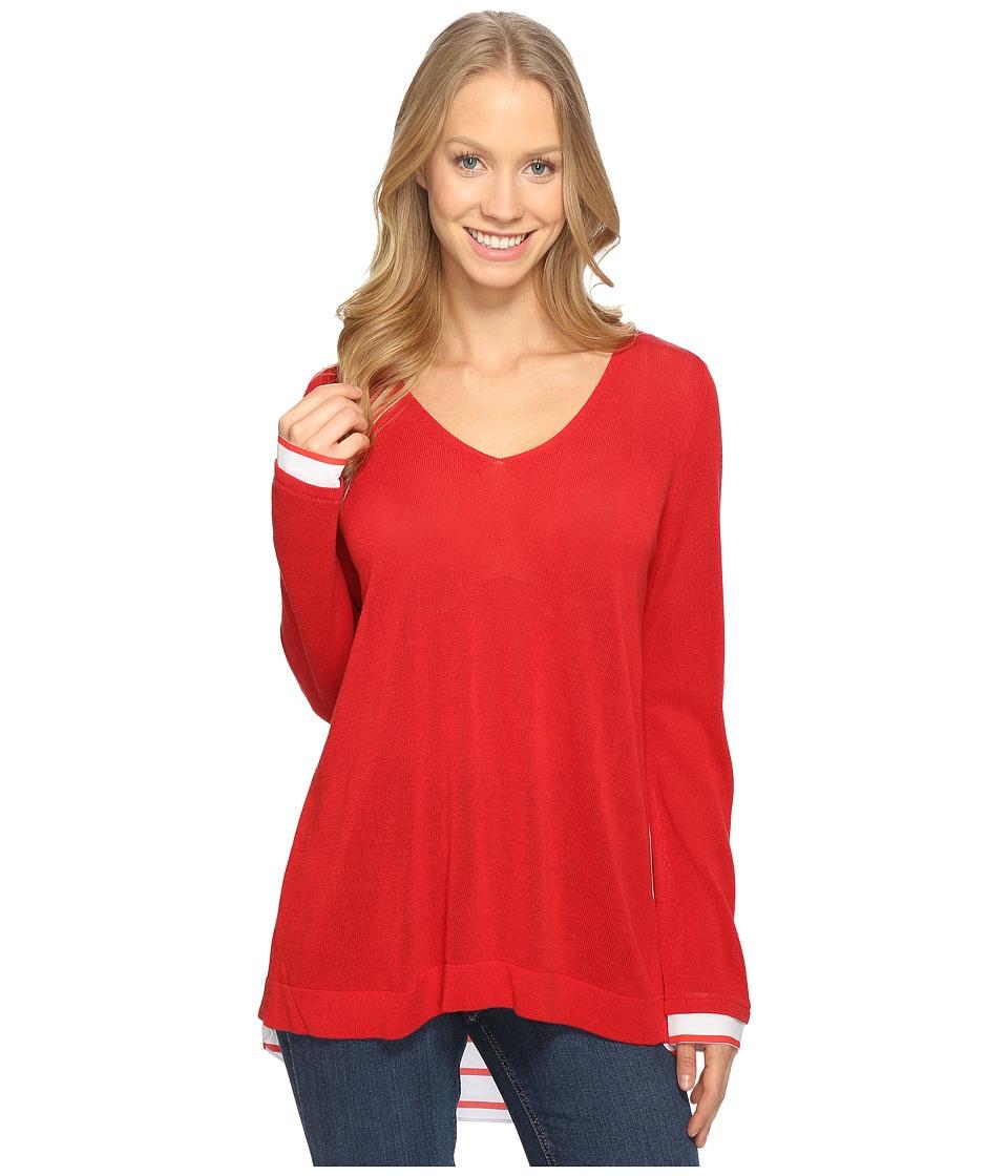 NYDJ - Twofer Sweater (Red Ribbon) Women's Sweater