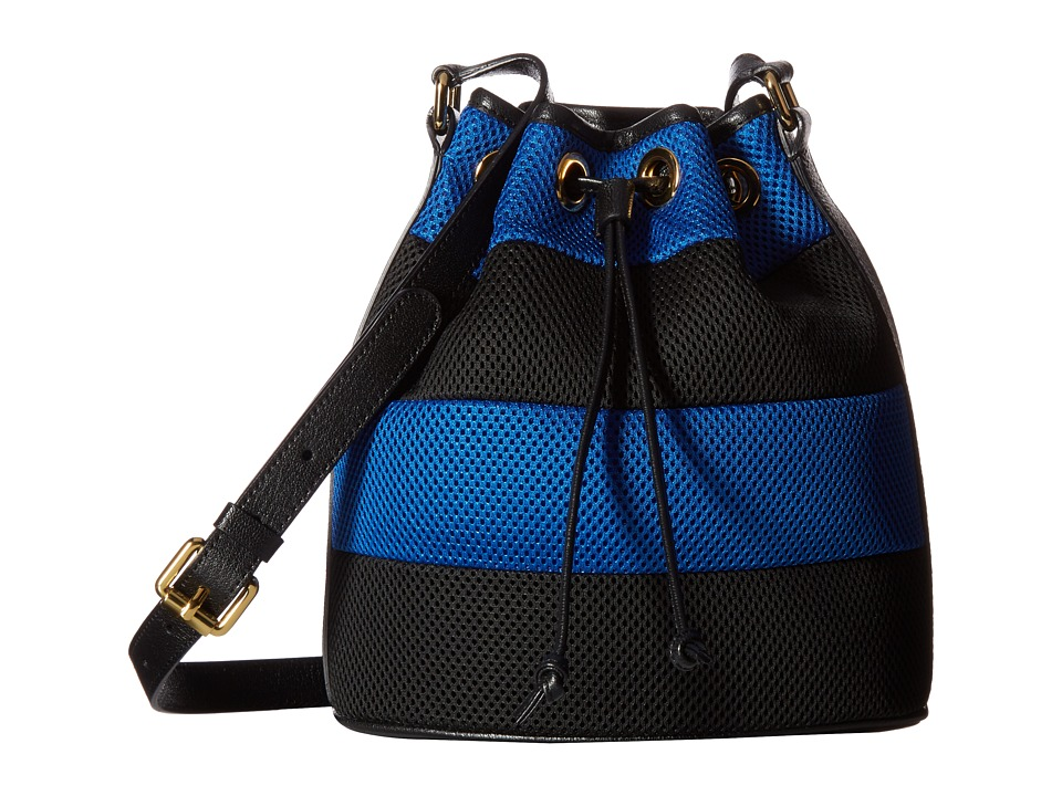 Boutique Moschino - Mesh Bucket Bag (Blue/Black) Bags