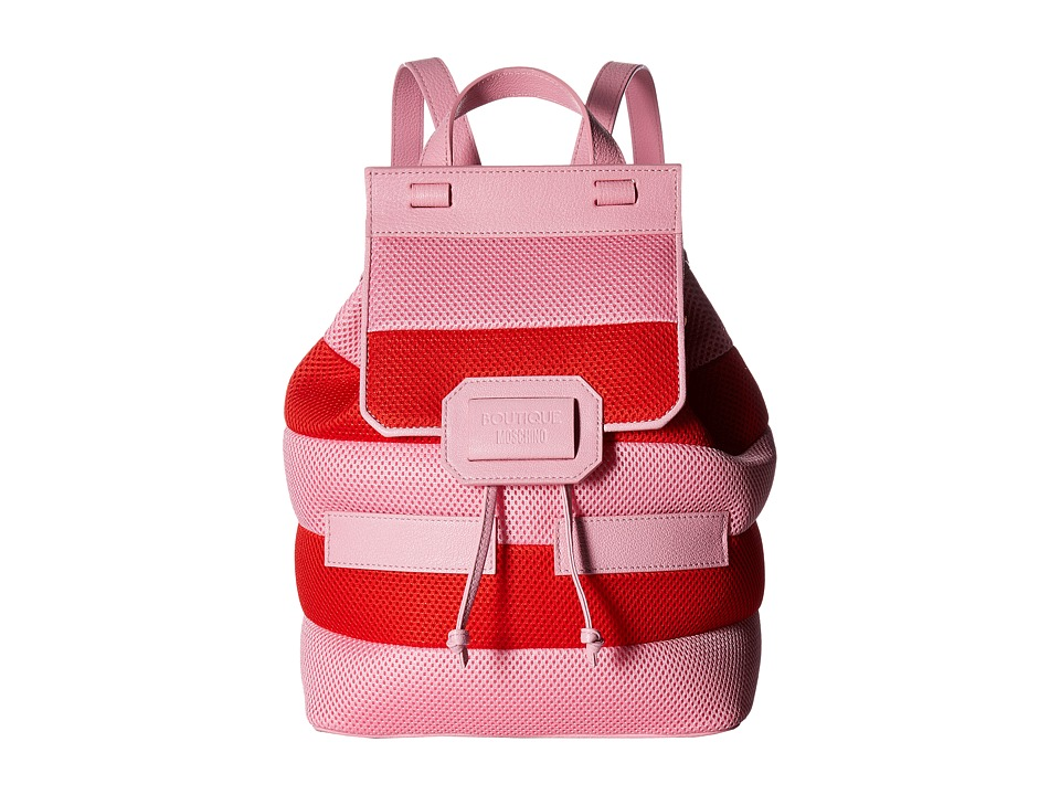 Boutique Moschino - Mesh Backpack (Red/Pink) Backpack Bags