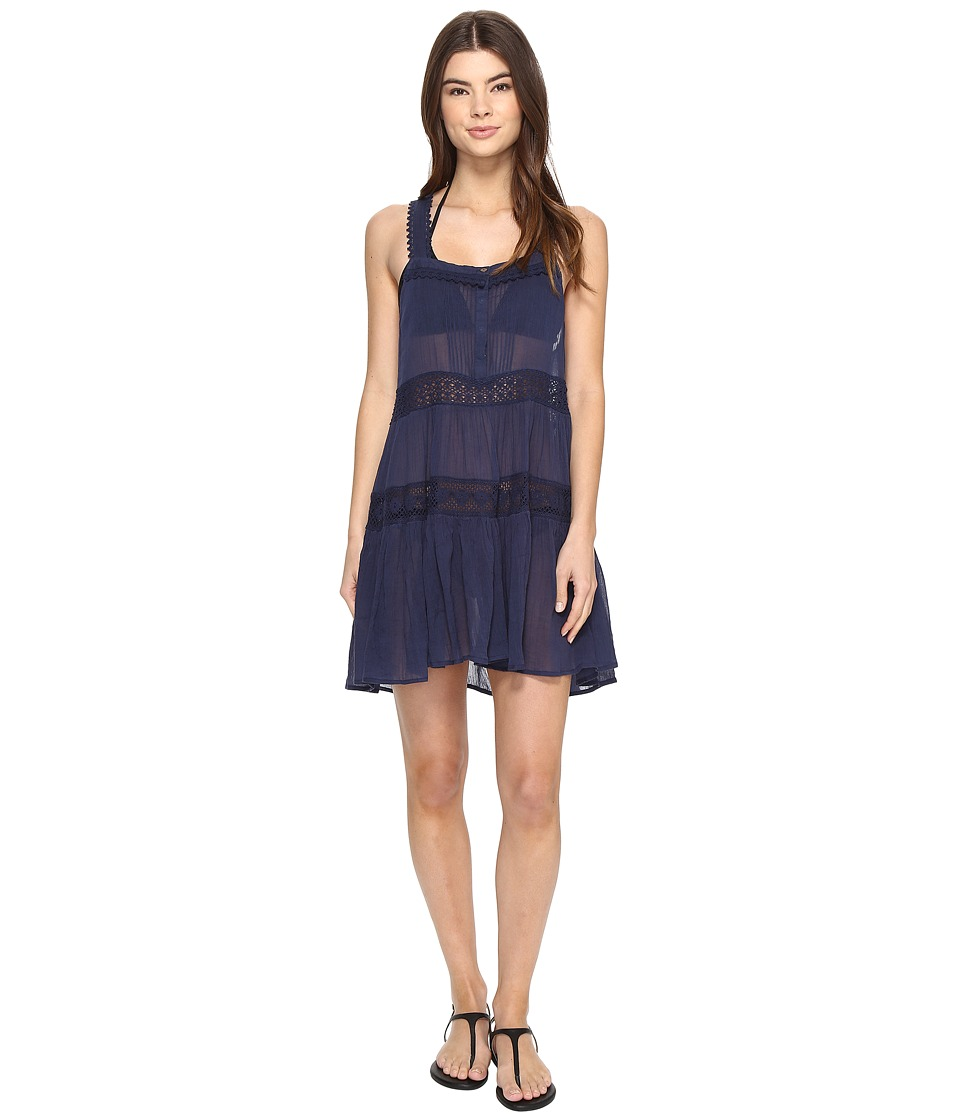 Polo Ralph Lauren Lace Cotton Laced Dress Cover-Up (Rivieria Navy) Women