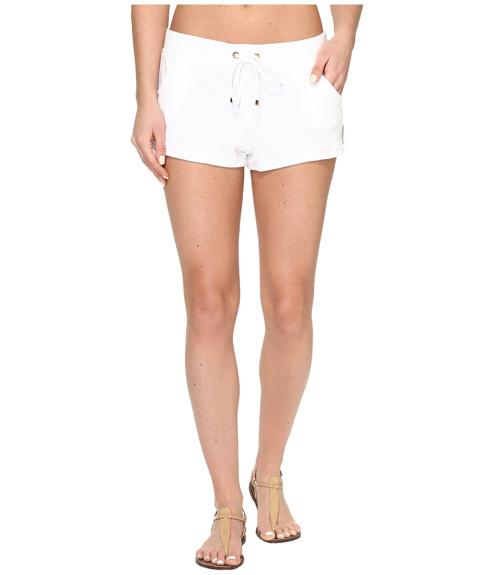 Polo Ralph Lauren Iconic Terry Short Cover-Up (White) Women