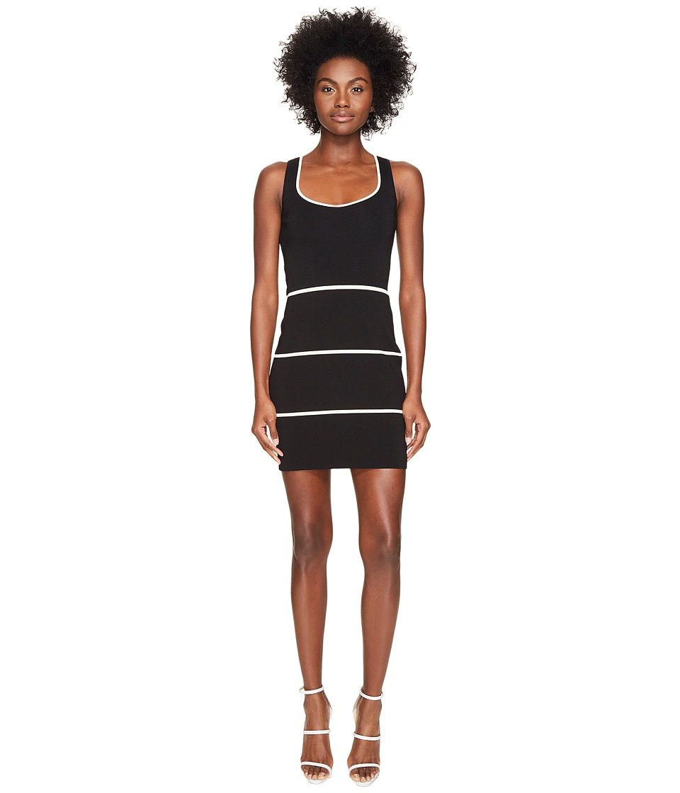 Boutique Moschino - Color Blocked Sweater Dress (Black) Women's Dress
