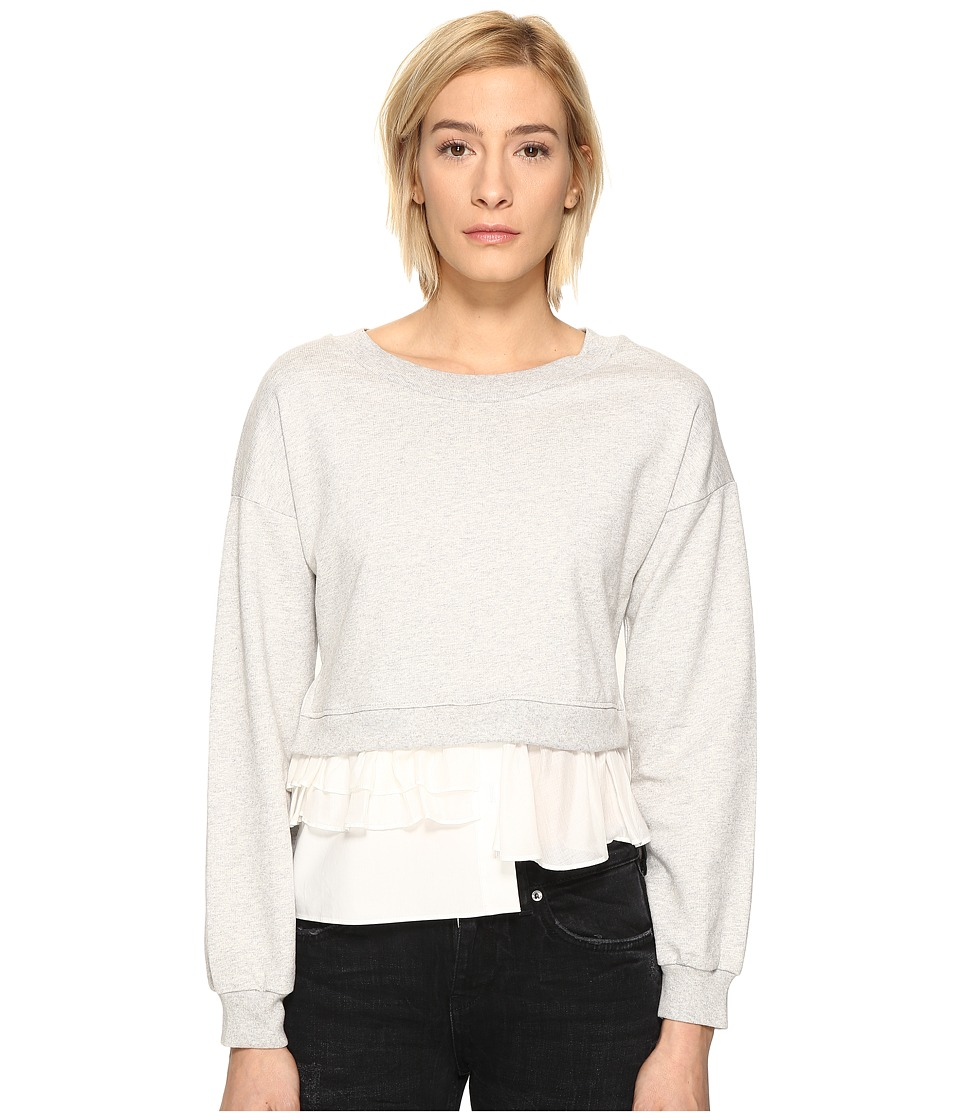 Boutique Moschino - Sweatshirt w/ Bottom Ruffle (Grey) Women's Sweatshirt