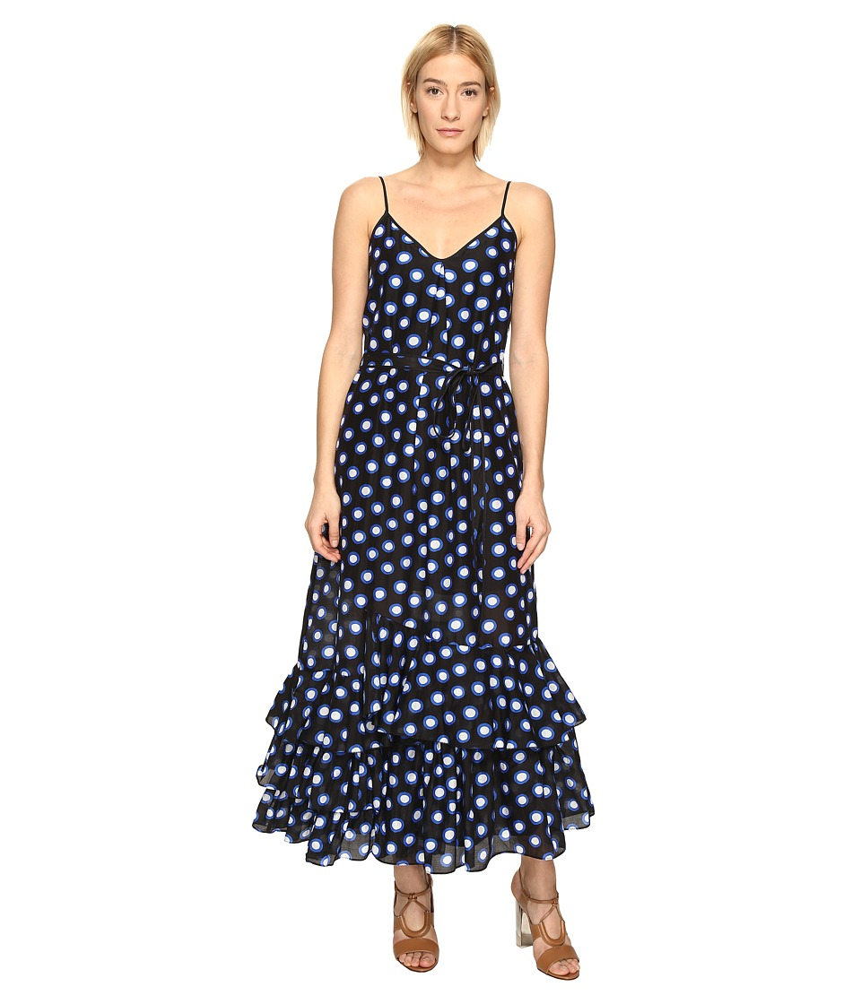 Boutique Moschino - Ruffle Bottom Maxi Dress (Black Dot) Women's Dress