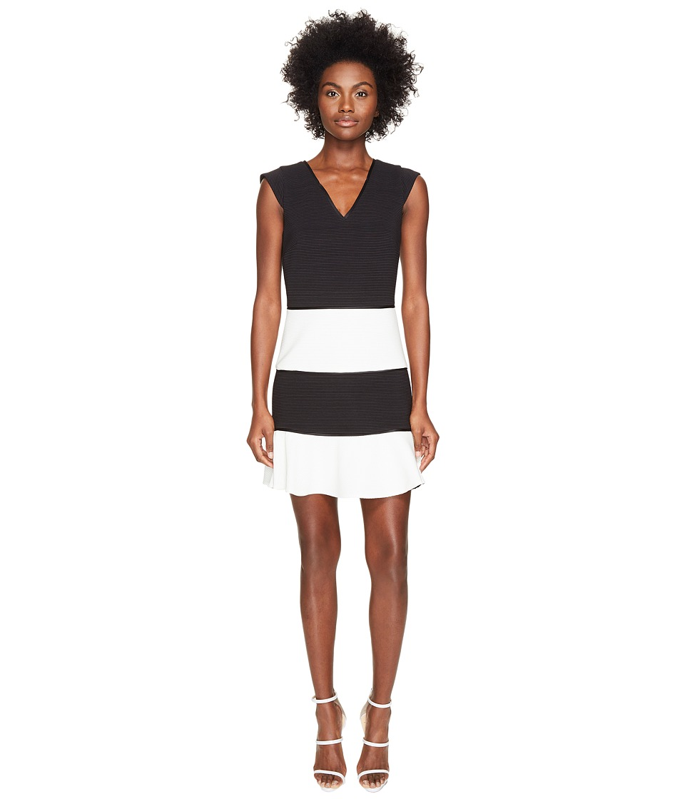 Boutique Moschino - Color Block Dress (Black/White) Women's Dress