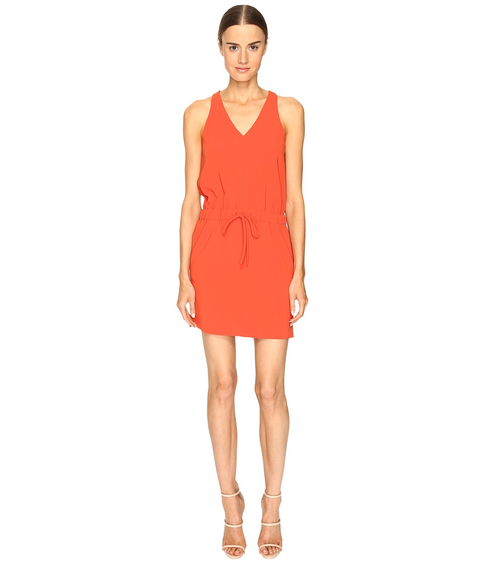 Boutique Moschino - Drawstring V-Neck Dress (Orange) Women's Dress