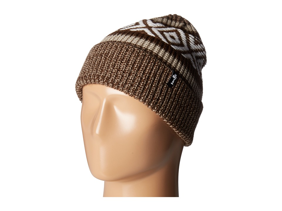 Sanuk - The Up-High Boarder Beanie (Tan Heather) Beanies