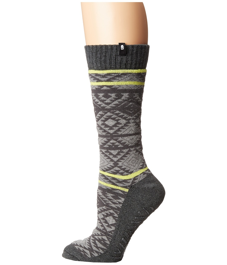 Sanuk - The Down-Low Slipper Sock (Charcoal Heather) Women's Crew Cut Socks Shoes