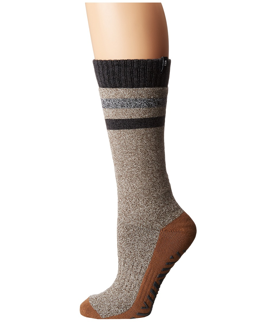 Sanuk - The Down-Low Slipper Sock (Tan Heather) Women's Crew Cut Socks Shoes
