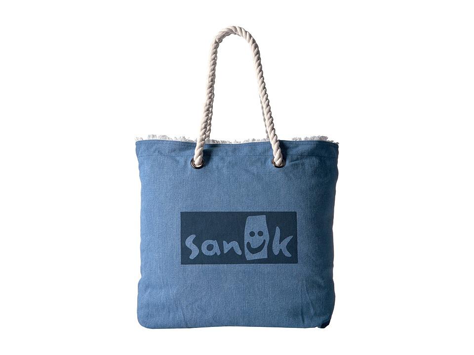 Sanuk - Isla Tote Rope Tote (Indigo) Tote Handbags