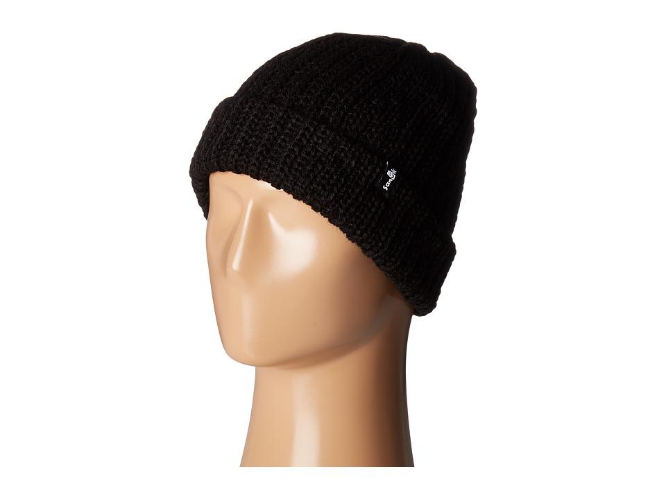 Sanuk - Iglu Chunky Cable Knit Beanie (Black) Beanies