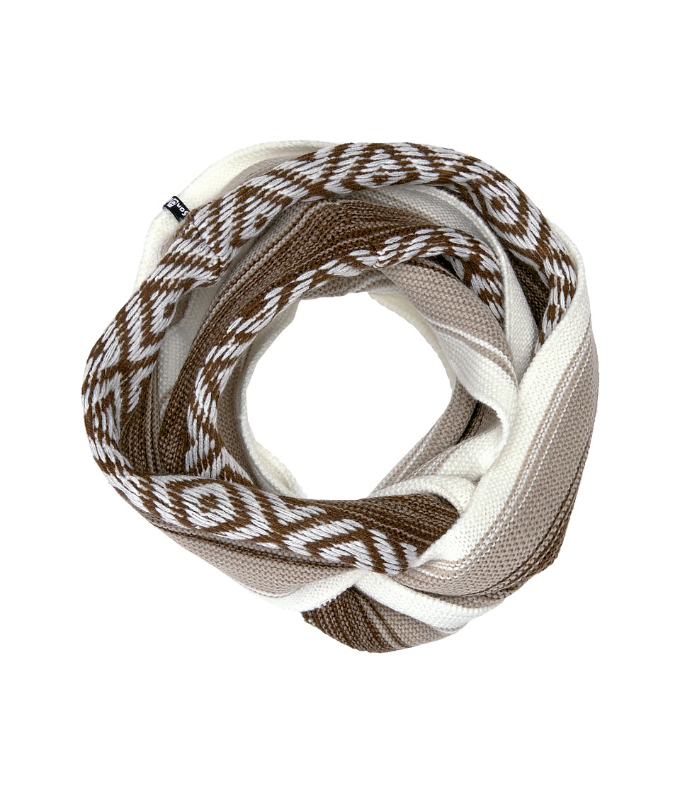 Sanuk - Too Knit to Quit Blanket Infinity Scarf (Tan Heather) Scarves