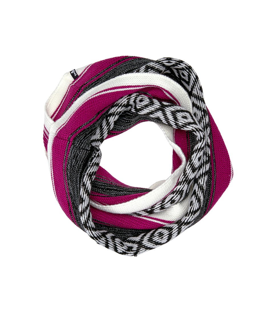 Sanuk - Too Knit to Quit Blanket Infinity Scarf (Natural/Magenta) Scarves