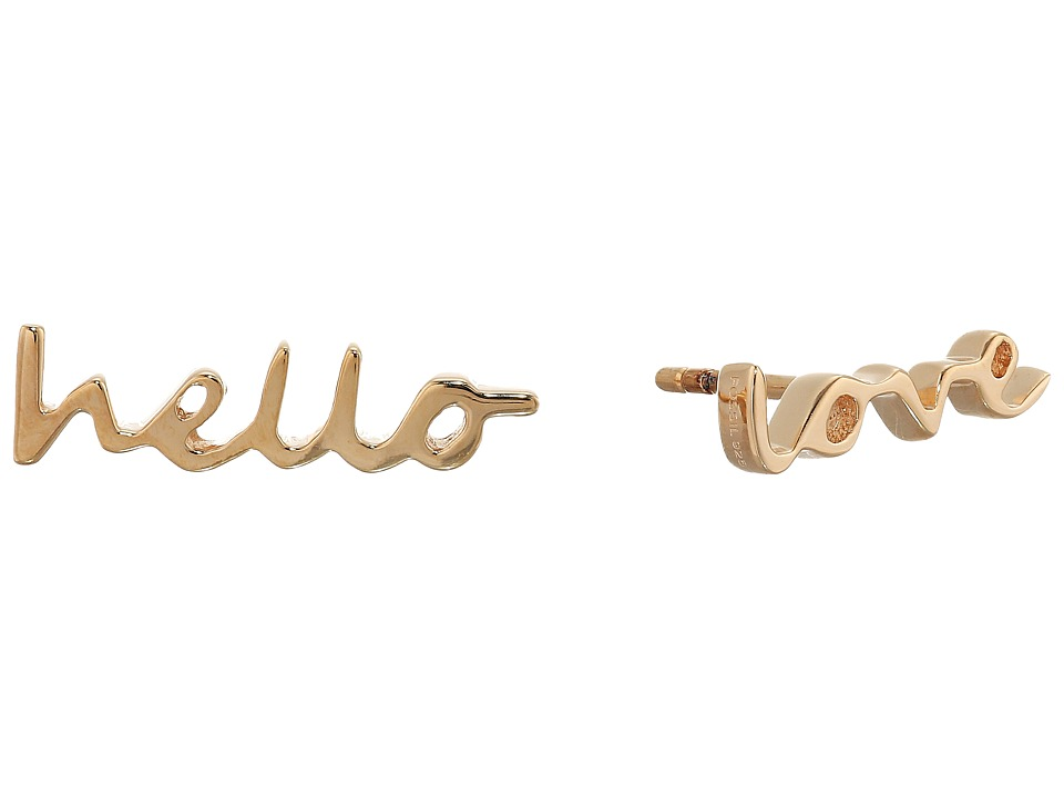 Fossil - Sterling Silver Hello Love Studs Earrings (Rose Gold) Earring