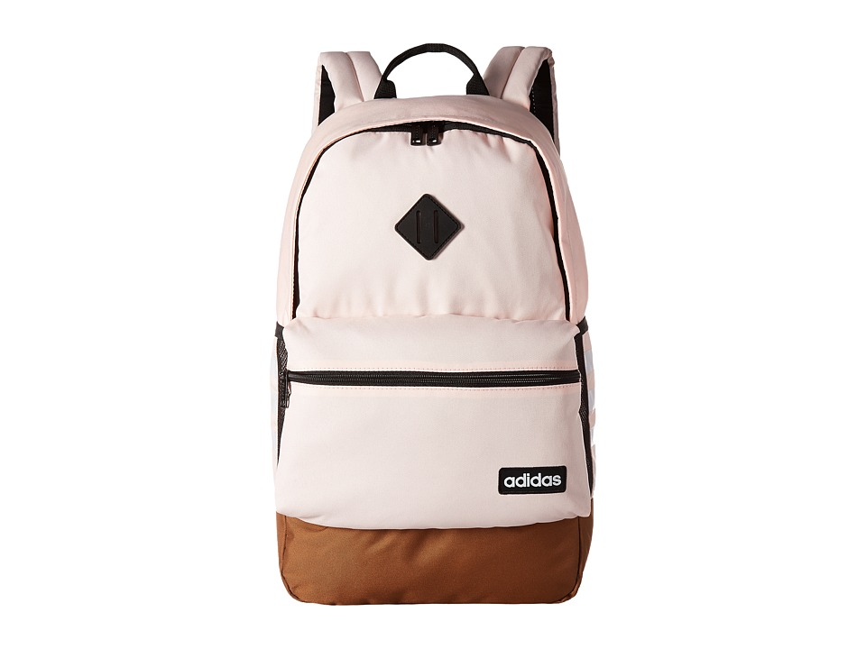 adidas Classic 3S Backpack (Icey Pink/Timber/Neo White) Backpack Bags