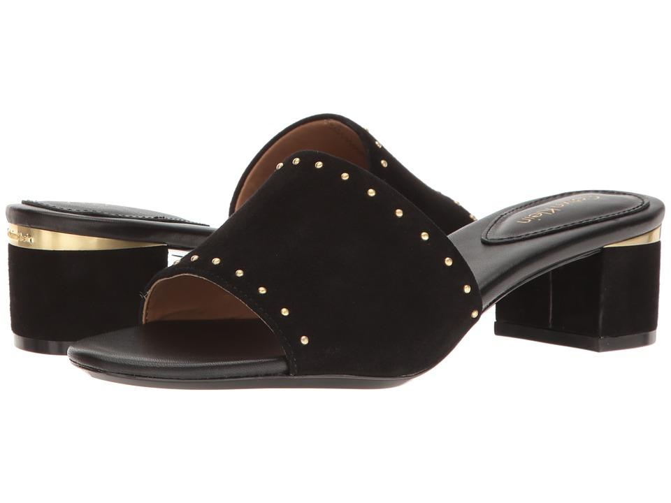 Calvin Klein - Dixie (Black Suede) Women's Dress Boots