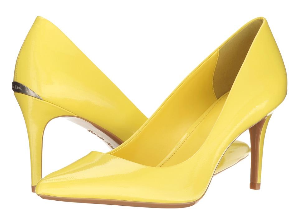 Calvin Klein - Gayle (Laser Lemon Saffiano Patent) High Heels