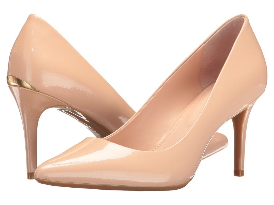 Calvin Klein - Gayle (Petal Pink Saffiano Patent) High Heels