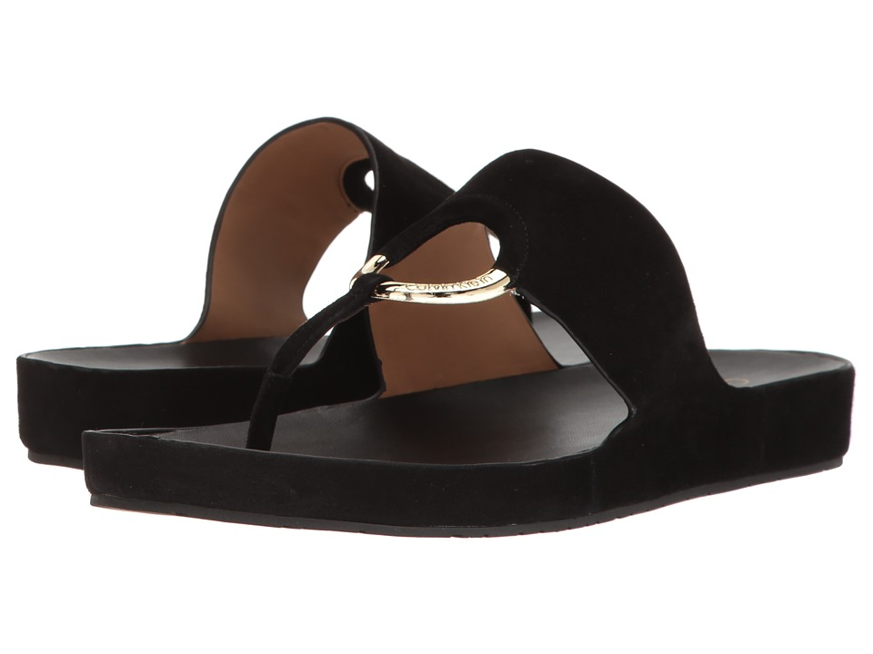 Calvin Klein - Mali (Black Suede) Women's Shoes
